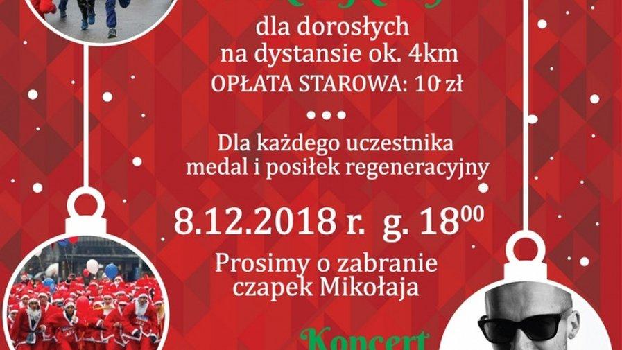 Zaproszenie MEZO na koncert i bieg mikołajkowy