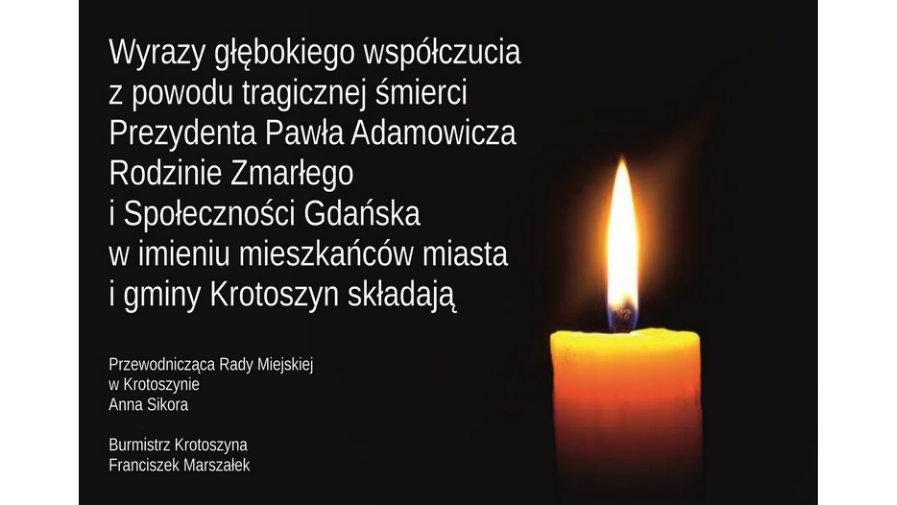 Kondolencje dla Gdańska i Rodziny Prezydenta