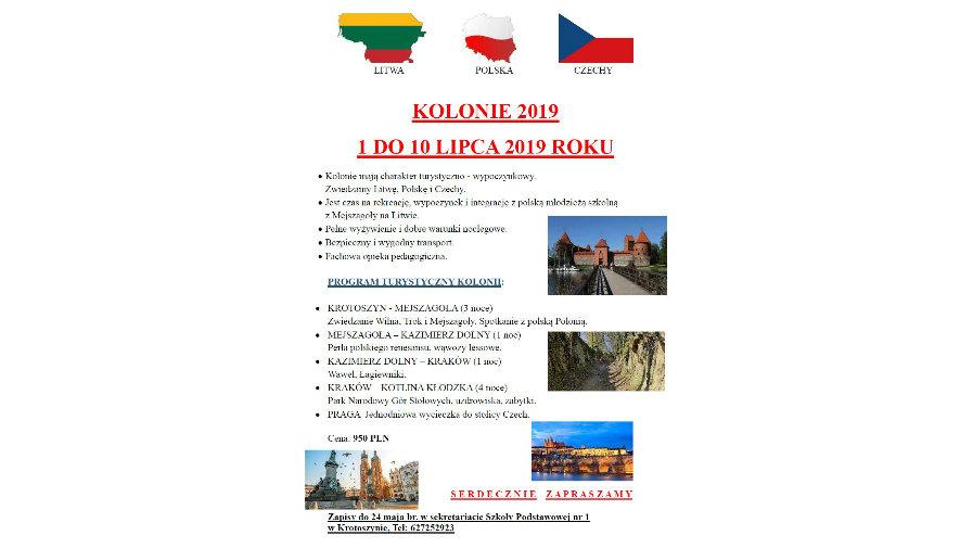 Kolonie - Litwa-Polska-Czechy