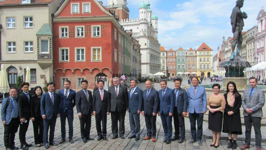 Burmistrza w Poznaniu  z delegacją z regionu Chungcheongnamdo