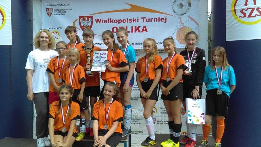 Piłkarki SP 8 Krotoszyn Wicemistrzyniami Wielkopolski